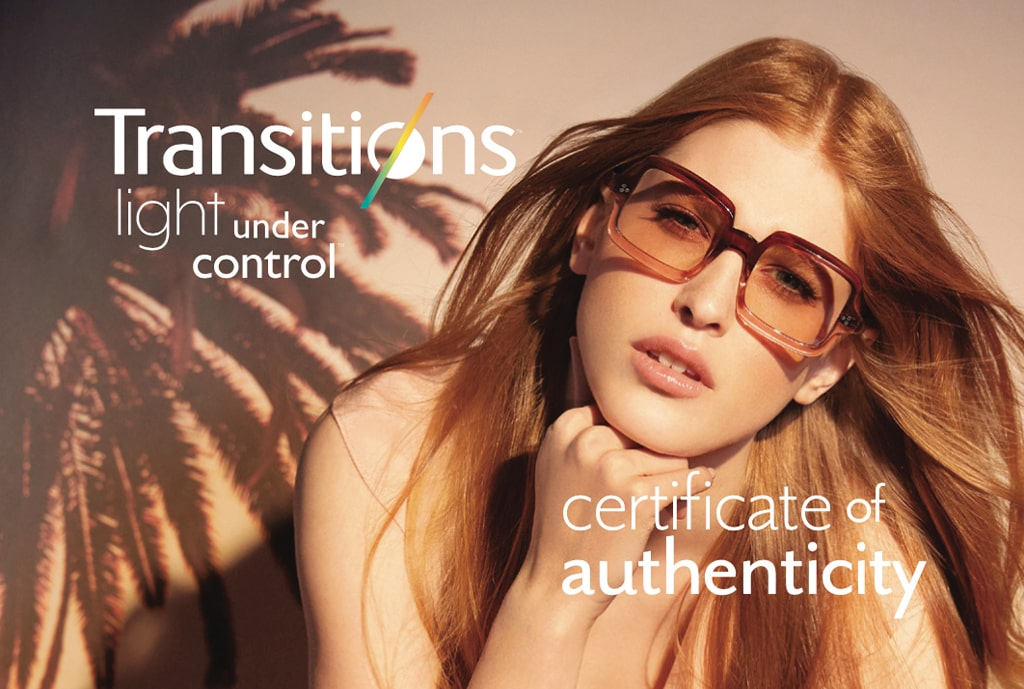 Transitions Certificate of Authenticity Program
