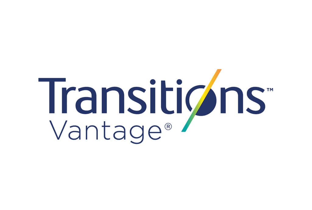Logo:  <em>Transitions<sup>®</sup> Vantage<sup>®</sup></em> lenses