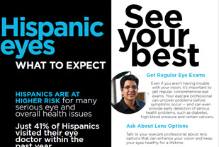 What to Expect: Hispanic Eyes Brochure, English