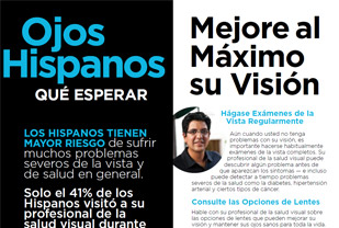 What to Expect: Hispanic Eyes Brochure, Spanish