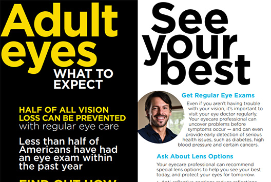 What to Expect: Adult Eyes Brochure