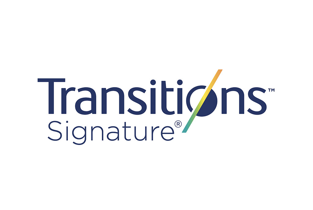 Logo:  <em>Transitions<sup>®</sup> Signature<sup>®</sup></em> lenses