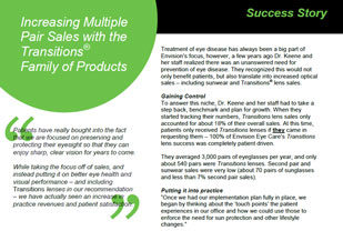Eyecare Professional Success Stories: