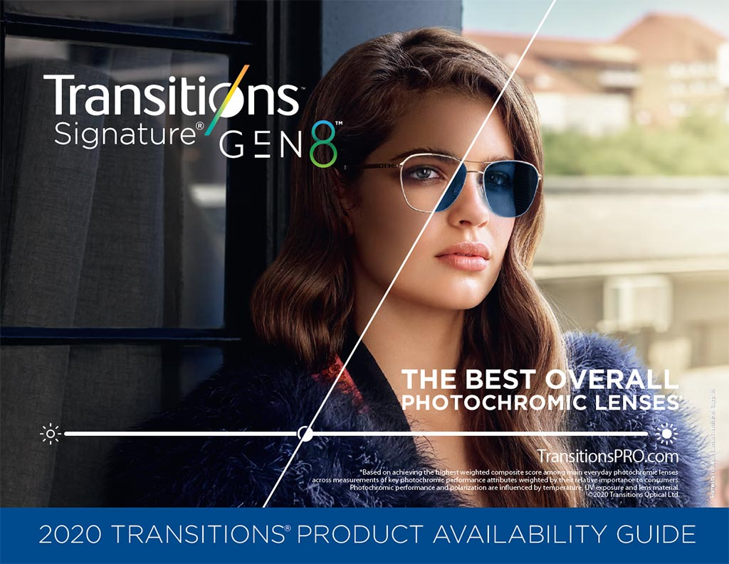<em>Transitions<sup>®</sup> Signature<sup>®</sup> GEN 8™</em> Product Availability Guide